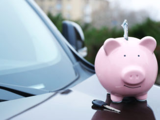 Piggybank for saving money on car insurance