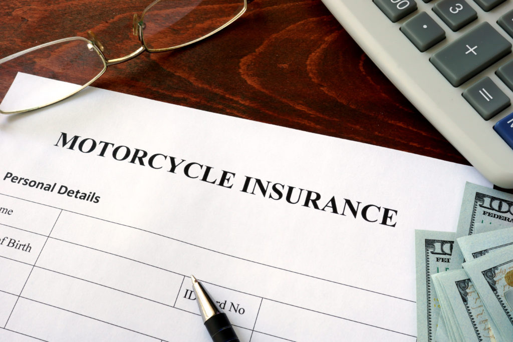 Motorcycle insurance paper quote