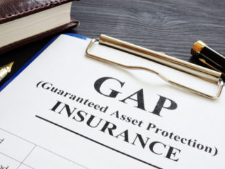 Gap insurance form on clip board